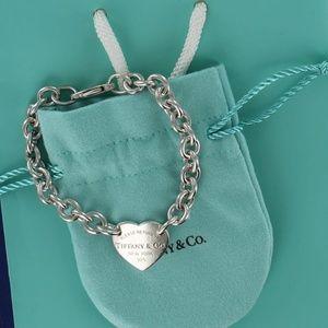Please Return Tiffany Center Heart Charm Bracelet